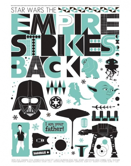 Star Wars - The Empire Strikes Back poster illustration art